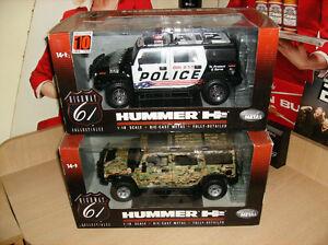 1 18 DIECAST truck highway 61 HUMMER  AUTOS MINIATURES