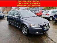 2011 11 VOLVO V50 DRIVE 1.6 SE LUX EDITION S/S 5DR 113 BHP-FSH-LEATHER-2KEYS DIE