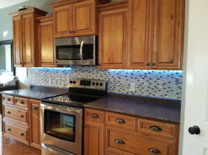 Complete kitchen cabinets counter tops can include appliances