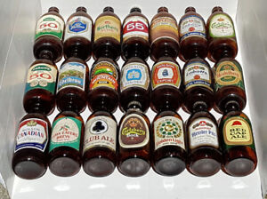 100 PLUS VINTAGE BEER BOTTLES AND CANS