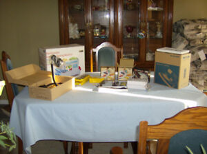 Industrial Steam Iron and Domestic Sewing Machine