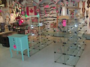 Commercial Glass Shelving Units