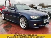 2003 BMW 330CI SPORT 3.0 AUTO LONG MOT 2DR CONVERTIBLE 228 BHP