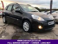 2009 RENAULT CLIO EXPRESSION 1.1 ESTATE FULL SERVICE HISTORY LONG MOT 1 OWNER