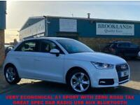 2016 66 AUDI A1 1.0 SPORTBACK TFSI SPORT 5 DOOR SHELL WHITE ZERO ROAD TAX 93 BHP