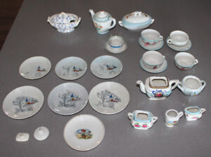 Old Toy Tea Set Children's Play Set Dishes China Japan
