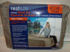 NEW Twin Air Mattress Sheet Set + 5 Piece Cooking Pot Set