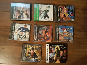 Selling 9 ps1 playstation one video games for 60 dollars