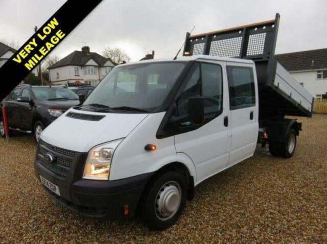 c637a9ad15 2014 14 FORD TRANSIT 2.2 TDCI 350 CREWCAB TIPPER 125 BHP WITH REMOVABLE  CAGE 101