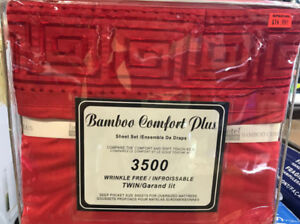 SALE ON BAMBOO COMFORT PLUS 3500 BED SHEET FOR $17.99