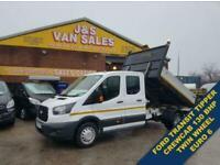 2017 Ford Transit TIPPER 130 BHP EURO 6 CREW CAB TIPPER VAN TIPPER Diesel Manual