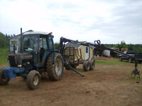 7600 ford tractor and log trailor