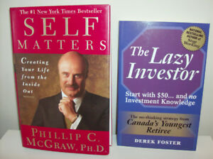2 NEW Books - The Lazy Investor & Self Matters by Dr. Phil