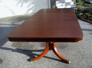 Restored Antique /Vintage Mahogany Dining Table. Chairs, Buffet