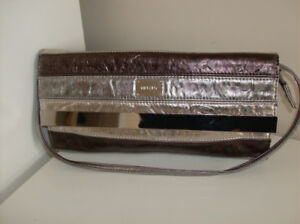 NEW Tiffany Style Purse - Clutch with Metallic details