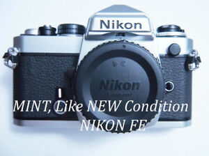 Nikon FE in MINT, almost like new condition.