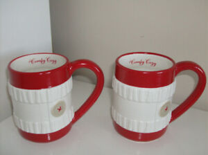 2 NEW Hallmark Coffee or Tea Mugs - Comfy Cozy 16oz Size