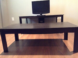 Brown Coffee Table & Side Tables Set