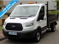 15(15) FORD TRANSIT L2 350 MWB DROPSIDE SINGLE CAB TIPPER 2.2 RWD 125BHP EURO 5