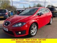 2011 61 SEAT LEON FR CR 2.0 TDI FR 5DR 140 BHP-LOW MILEAGE-FSH-SAT NAV-IMMACULAT