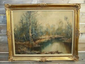 Antique Oil Painting by Joseph Fruhmesser