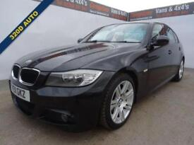 2011 11 BMW 3 SERIES 2.0 320D M SPORT 4D AUTO 181 BHP BLACK LEATHER DIESEL