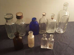 Antique Heinz and MEDICINE BOTTLES! Delivery Included