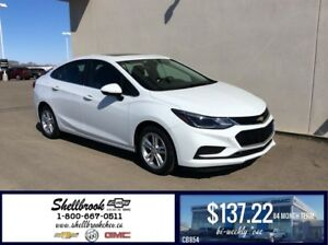 "2017 Chevrolet Cruze LT-SUNROOF,8"" TOUCH -$137.22BW!"