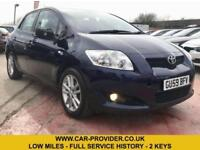 2009 TOYOTA AURIS TR S/S 1.3 LOW MILES FULL SERVICE HISTORY 2 KEYS LONG MOT