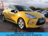 2013 CITROEN DS3 D STYLE 1.6 E-HDI FULL SERVICE HISTORY 2 KEYS 3DR 90 BHP DIESEL
