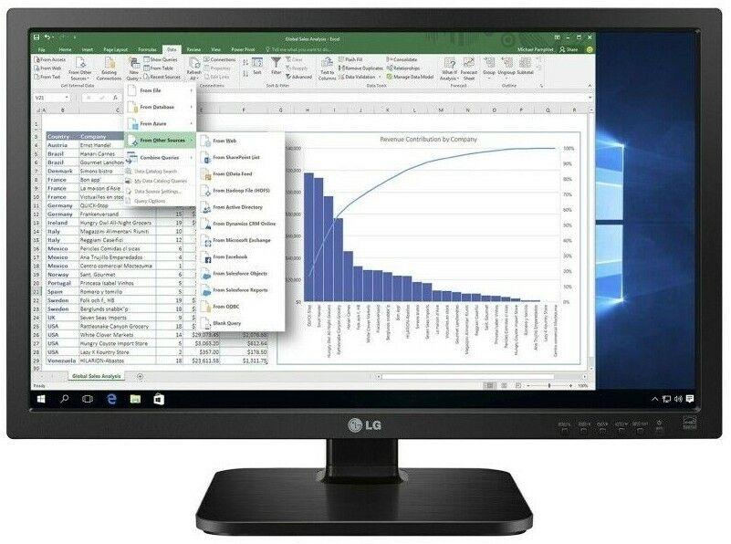 "LG Monitor 24MB37PM-B 60,45 cm (23,8"") dunkelanthrazit inkl. DVI-zu-HDMI"