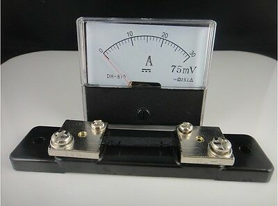 Analog Amp Panel Meter Current Ammeter Dh-670 Dc 0-30a Shunt