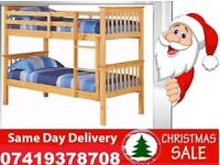 **BRAND NEW WOODEN BUNK SMALL SINGLE DOUBLE BED**