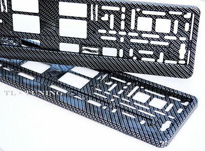 2 x Kennzeichenhalter CARBON 3D Optik Hochglanz Lackiert