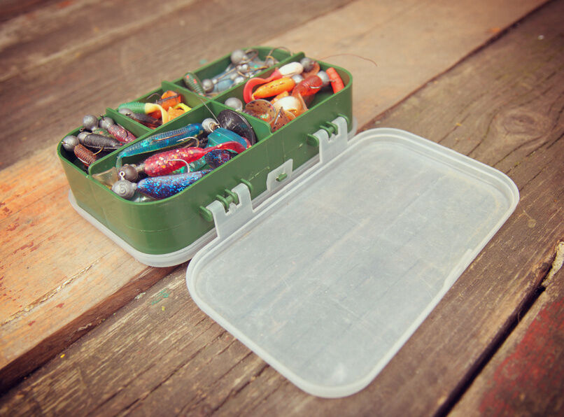 How to organize a tackle box ebay for Fishing tackle organization