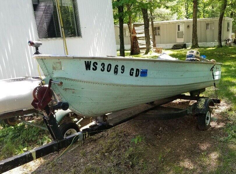 Lf - Mirrocraft 12' Aluminum Boat & Trailer - Wisconsin ...
