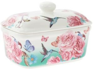 Leonardo Collection Bell Top Fine China Butter Dish Floral Blossom Design