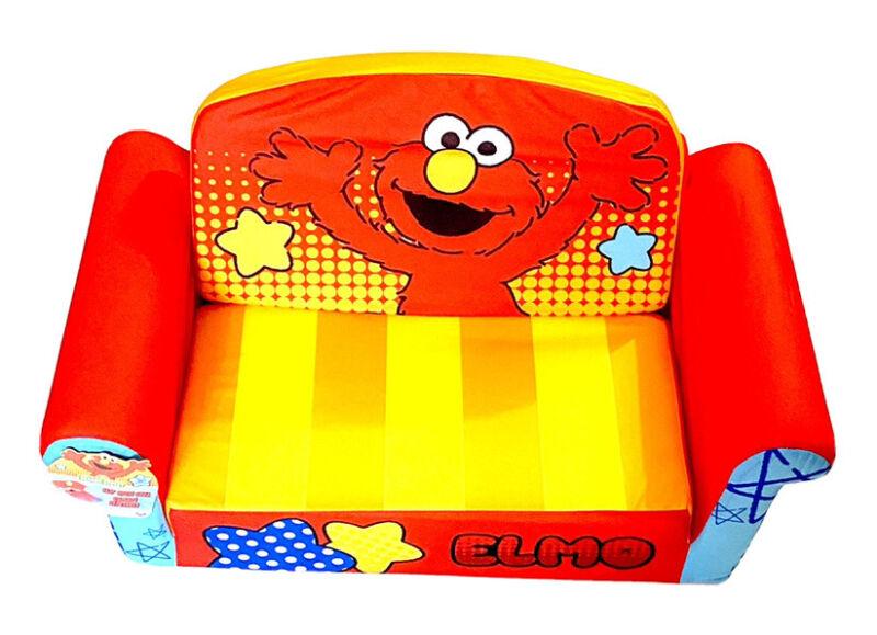 Sesame Street Elmo Marshmallow Kids Youth 2 in 1 Flip Open Kids Sofa Bed