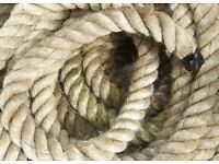 Heavy 60mm diameter, 15m long rope. Battle rope / fitness.
