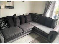 Dfs corner sofa and swivel chair (love seat)