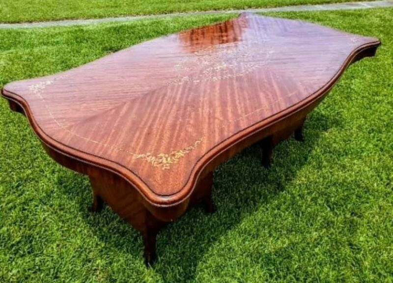 Antique French Inlaid Dining Table