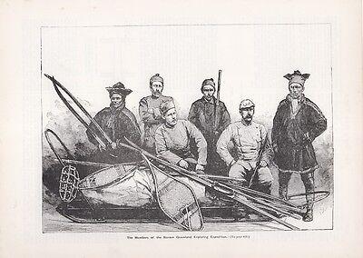Nansen, Greenland Exploring Expedition.  Scarce Print circa 1897