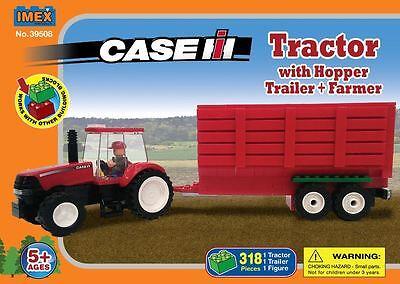 Case IH Magnum Tractor w/Grain Trailer Block Set