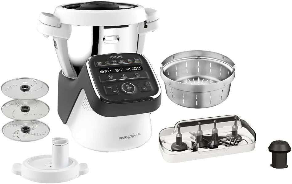 Krups HP50A8 Prep & Cook XL Küchenmaschine mit Kochfunktion