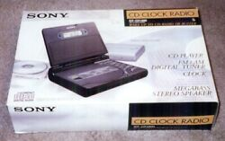 Sony Desktop Alarm Clock AM FM Radio CD Player ICF-CD1000 New in Box