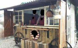 Converted Shepherds hut catering trailer