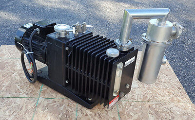 Alcatel Vacuum Pump Model 2033 Cp 27 Cfm 1 12 Hp Pfpe Fomblin