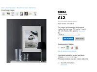 Used Ikea RIBBA frame (white, 50 x 70cm) + FREE Ikea A4 photo frame!