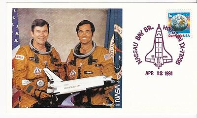 SPACE SHUTTLE COLUBIA LAUNCH 10th ANNIV. APRIL 12, 1991 YOUNG - CRIPPEN STS-1