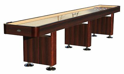 14 Foot Shuffleboard Table In Espresso By Berner Billiards +bonus Kit ~ New